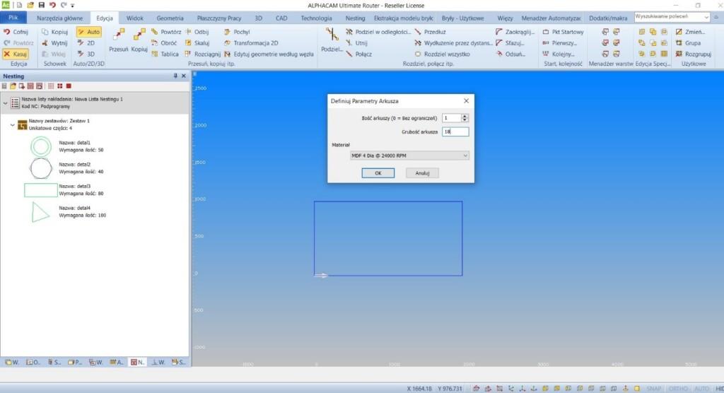 Nowy Nesting w oprogramowaniu AlphaCAM