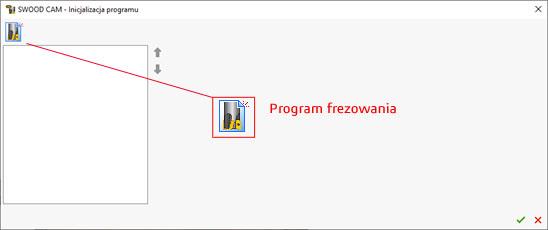 Ikona frezowania - program swood cam