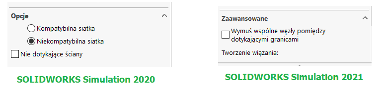 Nowa terminologia w SOLIDWORKS Simulation 2021
