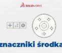 Znaczniki środka w dokumentacji 2D SOLIDWORKS