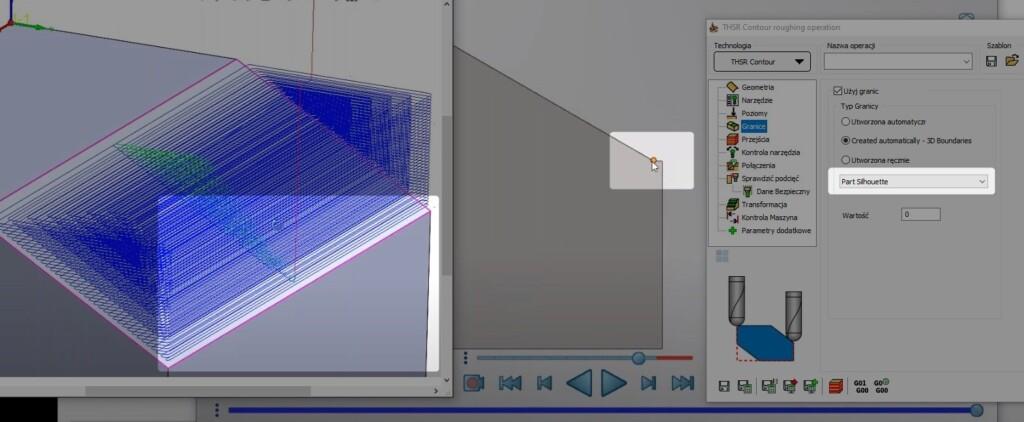 Sylwetka części (part silhouette)