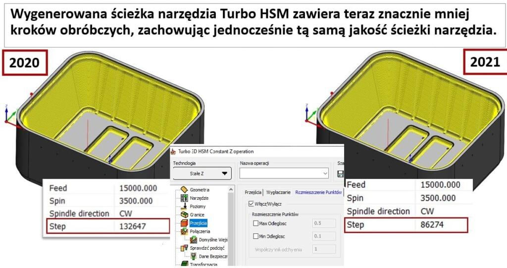 SOLIDCAM Redukcja bloków HSM Turbo