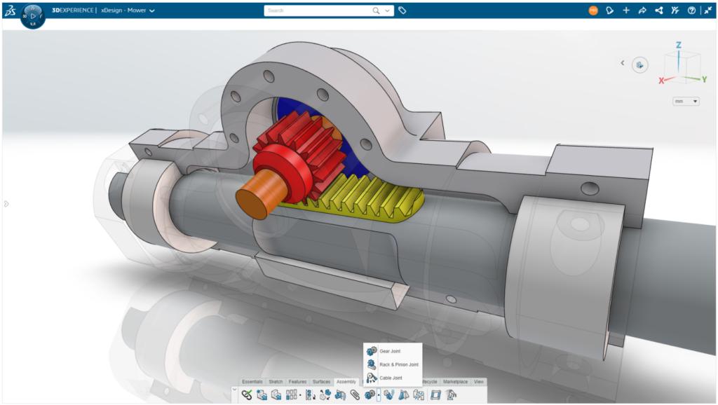 3DEXPERIENCE Nowe wiązania mechaniczne