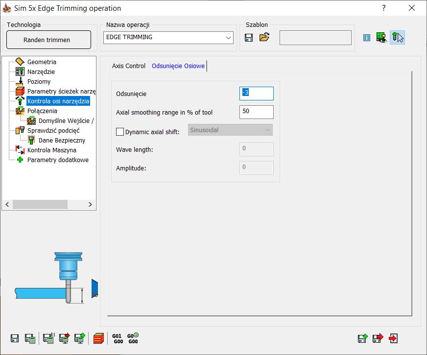 Jak ustawić odsunięcie osiowe w SOLIDCAM
