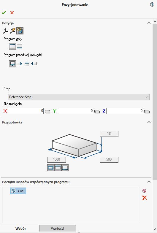 Pozycjonowanie części w SWOOD CAM - obróbka CNC