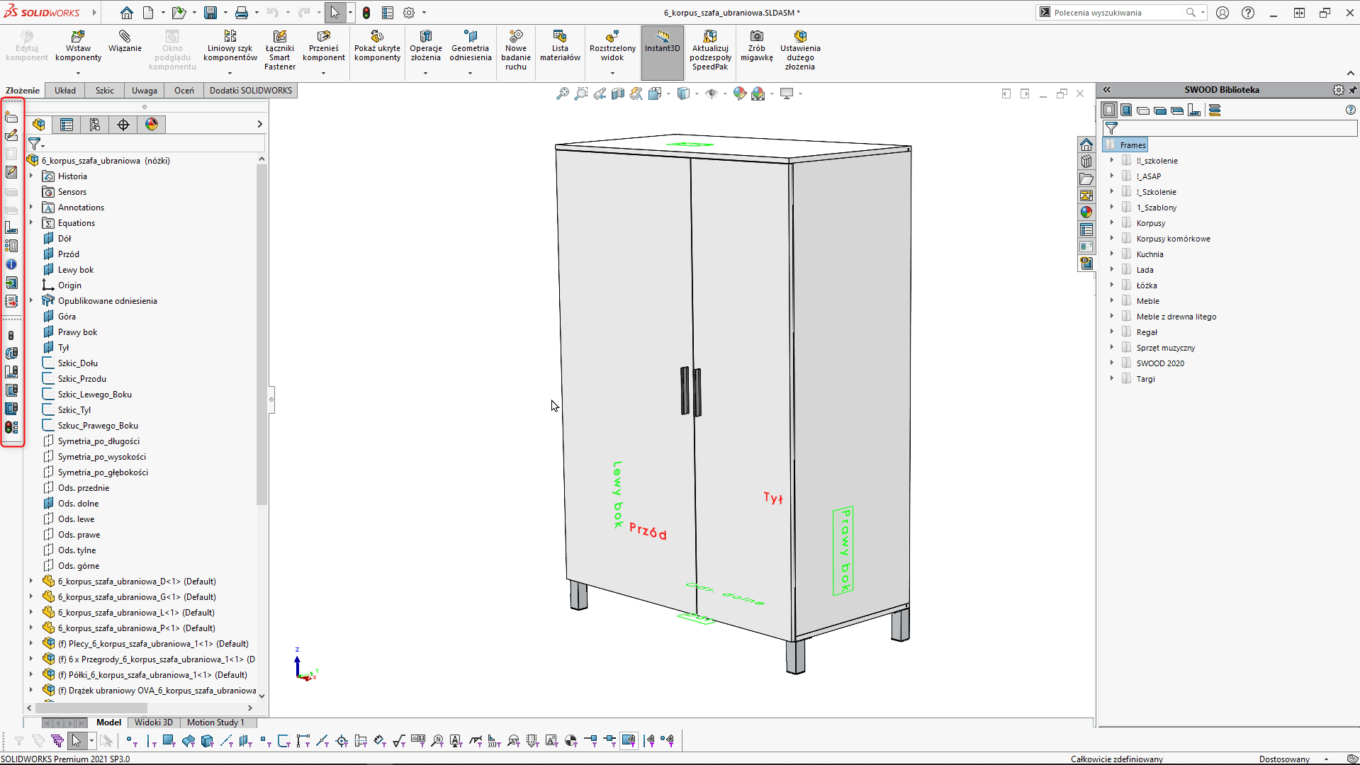 CommandManager SWOOD SOLIDWORKS