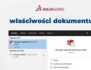 jak dostosować właściwości dokumentu SOLIDWORKS