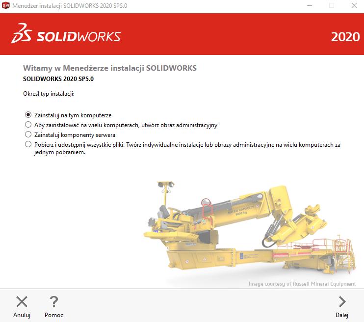 Instrukcja instalacji SOLIDWORKS krok 2