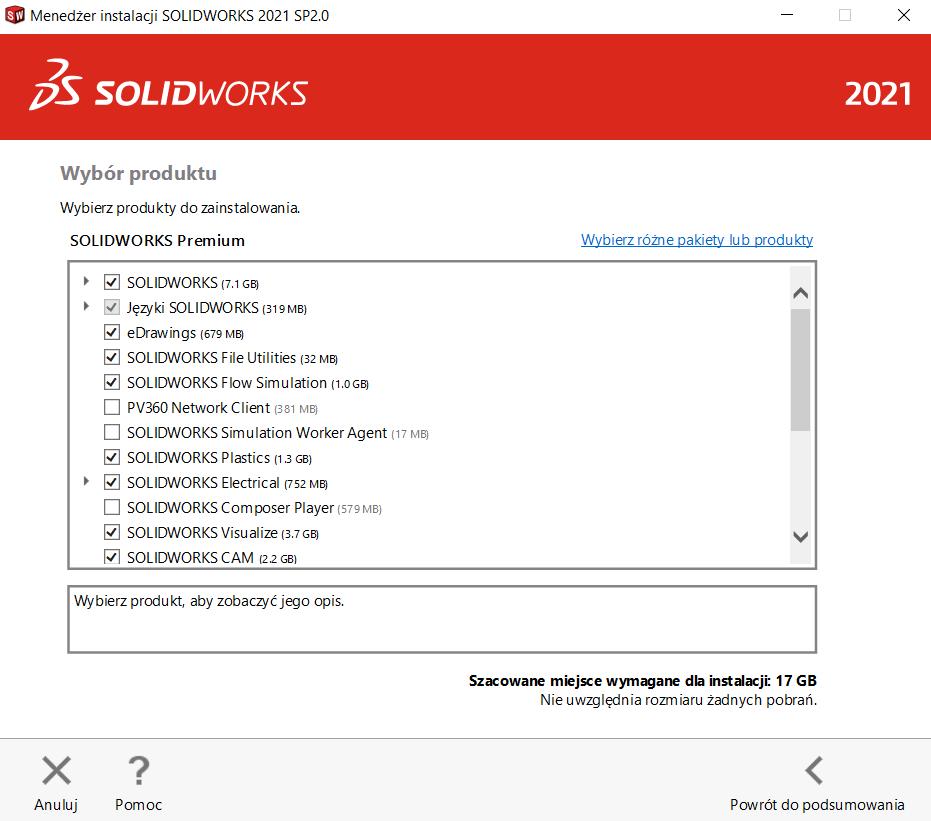 Instrukcja instalacji SOLIDWORKS krok 6