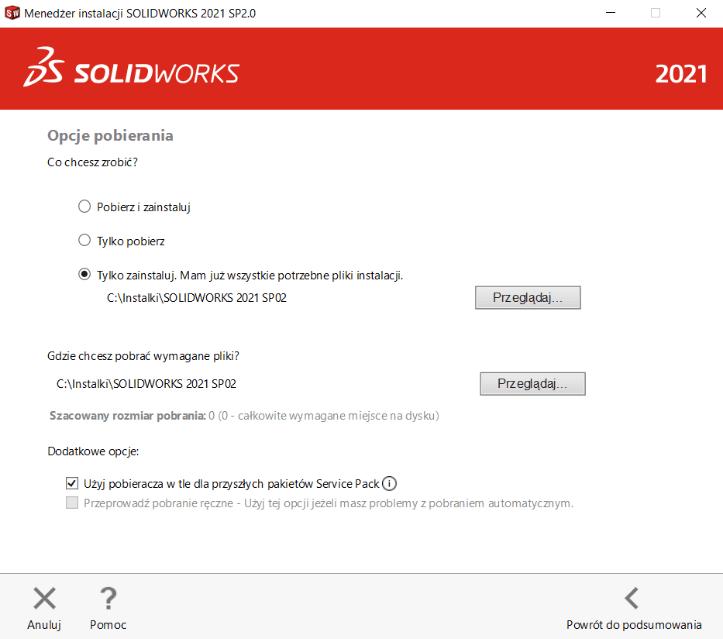 Instrukcja instalacji SOLIDWORKS krok 7