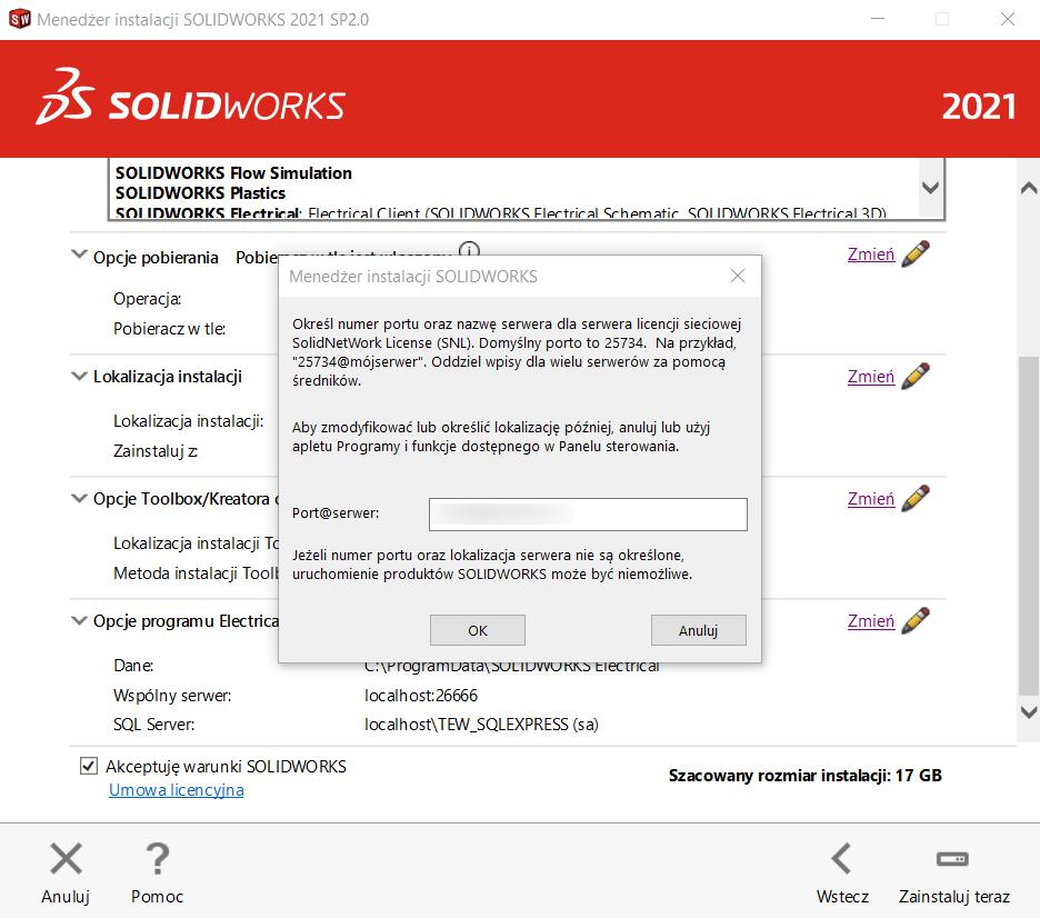 Instrukcja instalacji SOLIDWORKS krok 10