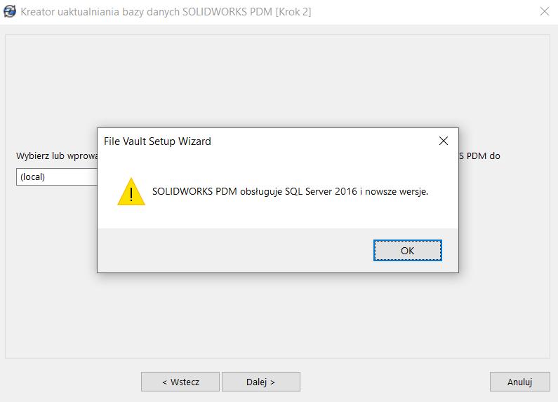 SOLIDWORKS PDM 2022 Koniec wsparcia-dla Microsoft SQL Server 2014