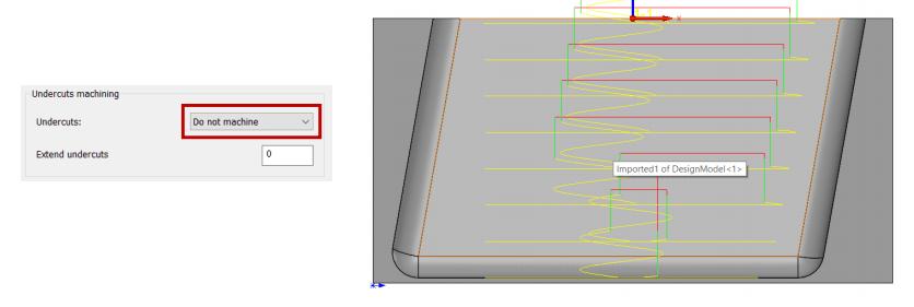 SOLIDCAM Obróbka z ominięciem obszarów gdzie znajduje się podcięcie