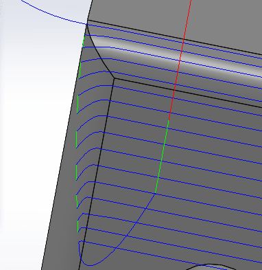 SOLIDCAM Extended Edge Curve