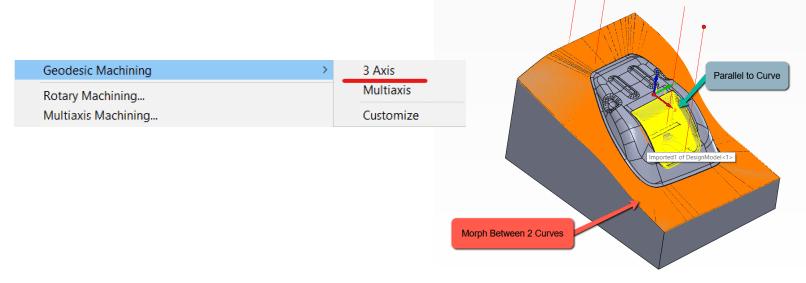 SOLIDCAM Geodesic Machining 3 osiowy