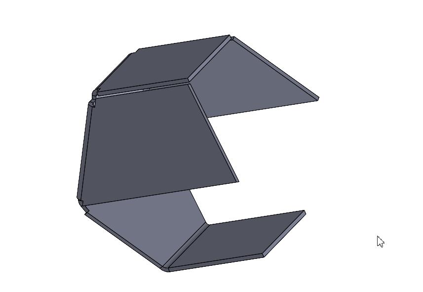 Przykładowe konwersji modelu 3d na arkusz blachy